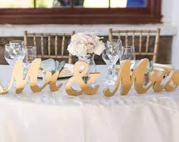 mr mrs sign for wedding table mr mrs table sign etsy