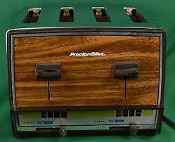 VINTAGE TOASTMASTER ASTRA Dual 4 Slice Toaster Chrome Wood Grain