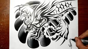 designing a tribal chinese dragon chest tattoo design youtube