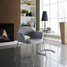 eero saarinen style executive dining side armchair emfurn