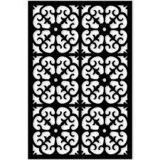 1 4 in x 32 in x 4 ft black roman vinyl decor panel vinyl