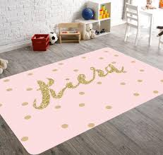 Pink And Gold Bedroom by Personalized Rug Pink And Gold Room Decor Playroom Rug Pink
