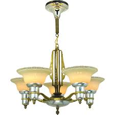 Deco Lighting Fixtures Vintage Light Riddle Deco Chandelier With Sconces From Pics
