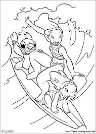lilo stitch coloring picture hawaiian roller coaster ride