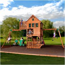 backyards innovative woodbridge cedar swing set gorilla systems