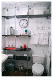 bathroom wall shelving units ideas and over toilet organizer above