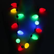 flashing christmas light necklace flashing bulb party necklace
