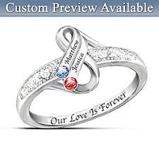 personalized birthstone jewelry personalized birthstone ring infinite