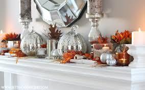 Mantel Decor Fall Mantel Decor Autumn Abounds Blog Hop Setting For Four