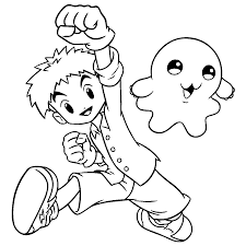 coloring pages digimon animated images gifs pictures