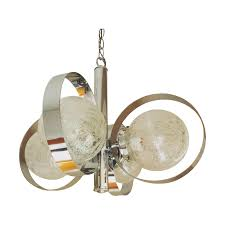 Chandelier Glass Globes Chrome And Crackled Glass Globe Chandelier Chairish