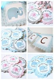 elephant favors peanut baby boy elephant favor tags in gray blue and