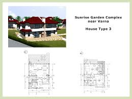 Standard Floor Plan Dimensions by Family Houses Near Varna