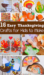 16 easy thanksgiving crafts for kids to make this fall