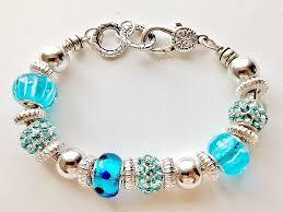 bracelet pandora murano images Summer colors turquoise blue bead bracelet pandora inspired murano jpg