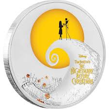 nightmare before christmas the nightmare before christmas 1oz silver coin nz mint