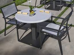 Stone Top Patio Table by Tropitone Stoneworks Faux Granite Stone 36 Round Solid Table Top