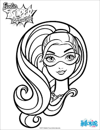 barbie super hero coloring pages hellokids