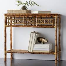 Rattan Console Table Rattan Console Side Table The Company Store