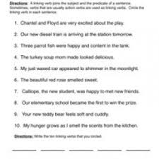 verb worksheets have fun teaching