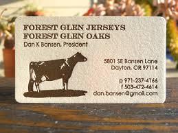 Farm Business Card Dairy Farmer Business Card Letterpress Printed And Corners U2026 Flickr