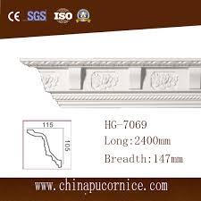 Large Cornice China 15cm Large Face Factory Price Carving Pu Crown Cornice