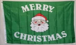 merry christmas green 3 u0027x5 u0027 polyester flag
