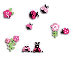 wallpops home decor line pink ladybugs 3d wall decal wayfair