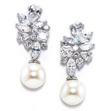 bridal drop earrings bridal earrings wedding jewelry bellagio