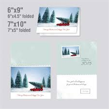 car and tree funny christmas card template