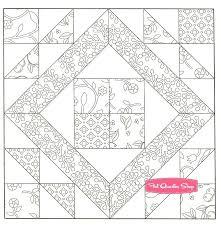 Bedrooms Hiseek Info Quilt Block Coloring Pages