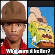 Hat Meme - pharrell s hat at the grammy s meme weknowmemes