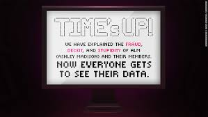 Ashley Madison data posted by hackers   Aug           ashley madison times up   quot