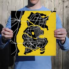 Map Of Gotham City Batman Gotham City Map Art City Prints