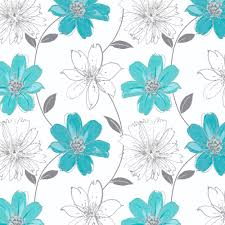 download teal floral wallpaper gallery