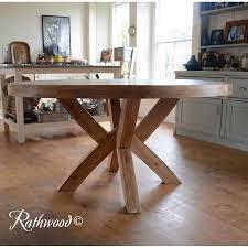 solid oak pedestal dining table round oak dining tables uk oak