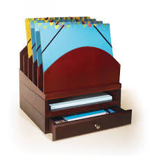 Modular Desk Organizer Stack Style Wood Desk Organizer Mahogany Hayneedle
