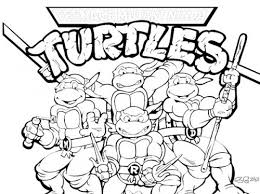 picture ninja turtles coloring pages print children