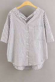 s fitted blouses oversized striped pocket blouse clothes closets and wardrobes