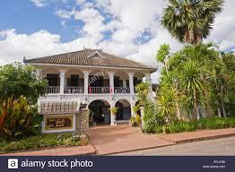 a colonial house in luang prabang laos stock photo royalty free