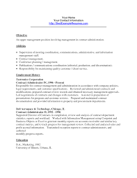 Resume For Management Position Resume Format For Admin Resume For Your Job Application