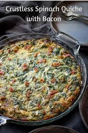 Spinach Quiche With Cottage Cheese by Crustless Spinach Quiche Recipe With Bacon Low Carb Maven
