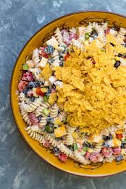chicken pasta salad southwest ranch chicken pasta salad valerie s kitchen