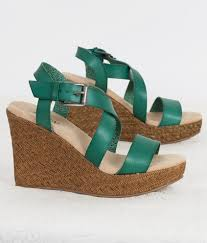 daytrip colored wedge sandal women u0027s shoes in teal buckle