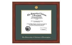 of alabama diploma frame the of alabama at birmingham
