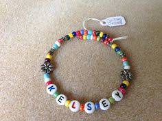 beaded name bracelets 14 best name bracelets images on name bracelet charm