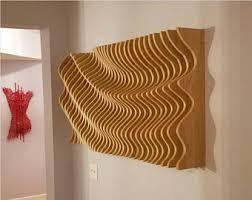 wood wall modern parametric wave 3d wall sculpture