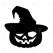 carved face of pumpkin in hat on halloween royalty free cliparts