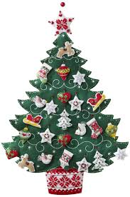 amazon com bucilla 86584 nordic tree advent calendar felt