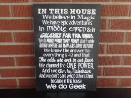 in this house we do geek sign harry potter lord of the